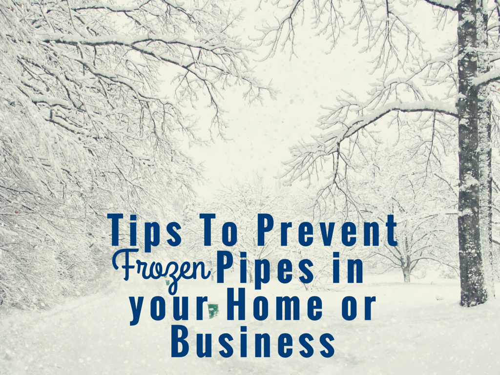 Tips To Prevent Frozen Pipes in your Home or Business